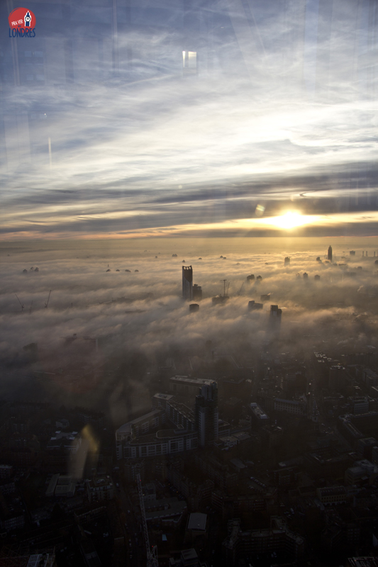 London - fog - Shard