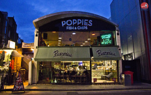 Onde comer em Londres? Poppies Fish and Chips