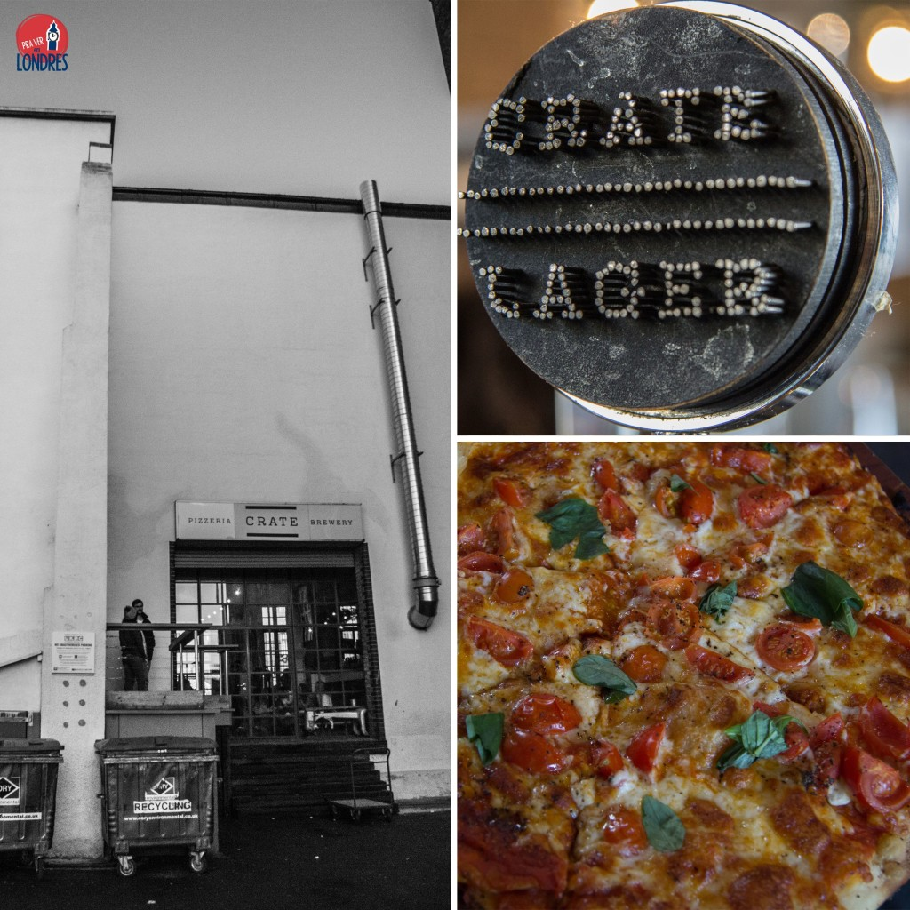 crate brewery - londres - beer and pizza