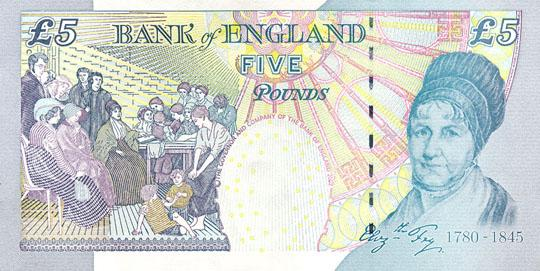 five pounds - elizabeth fry