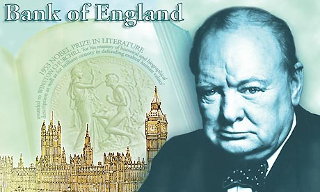 Winston Churchill - five pounds