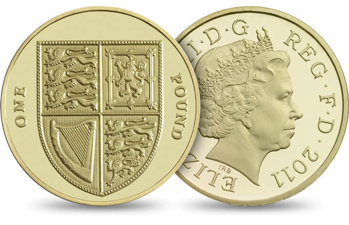 moedas da libra esterlina - one pound