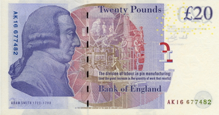 twenty pounds - adam smith
