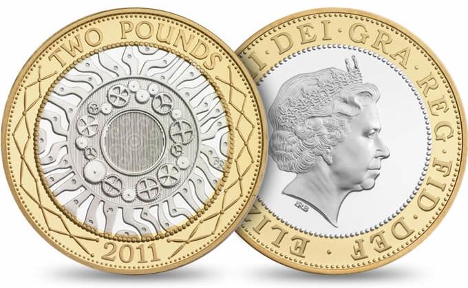 moedas britânicas - two pounds