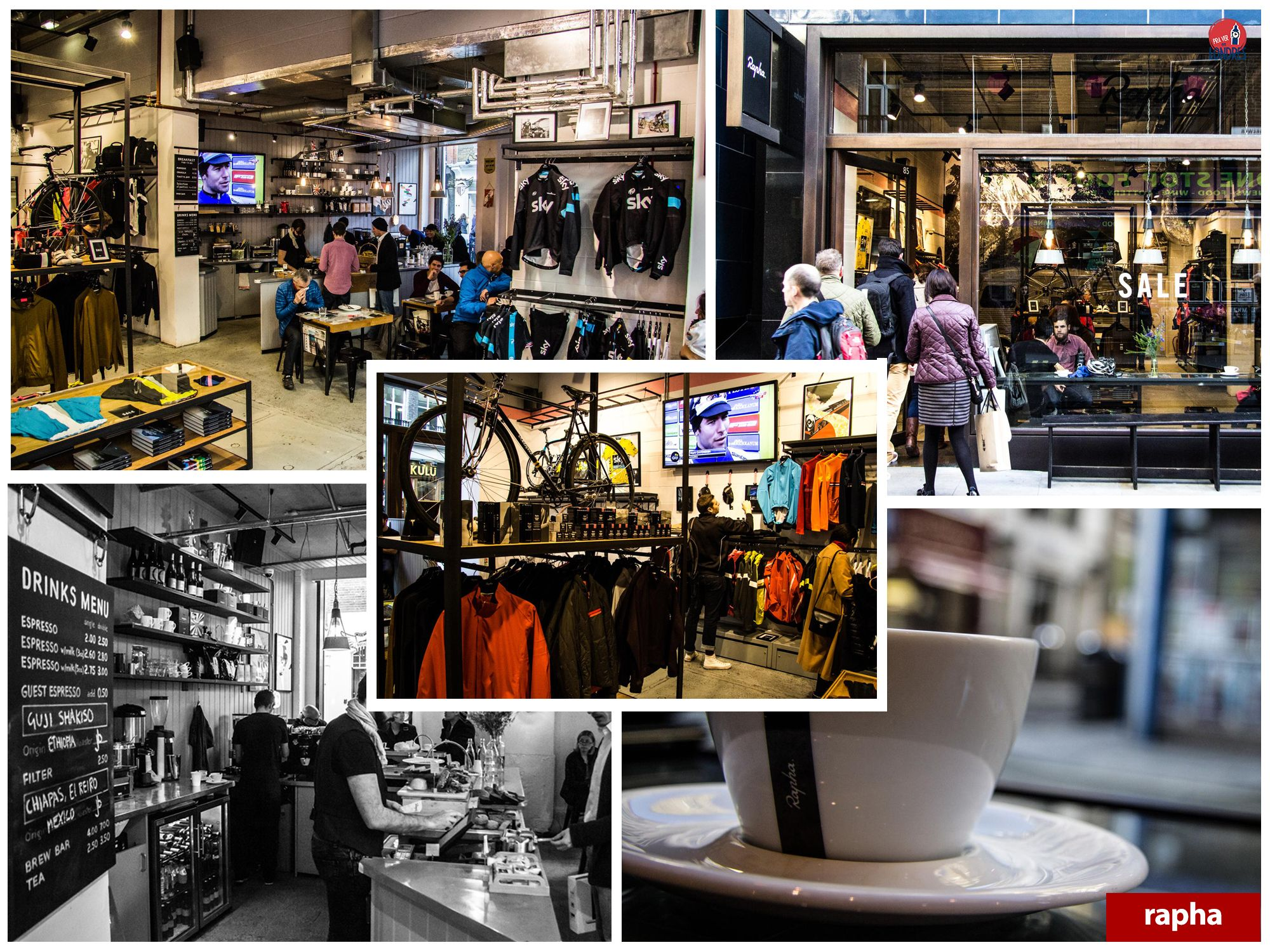 cafés em londres - rapha cycle club