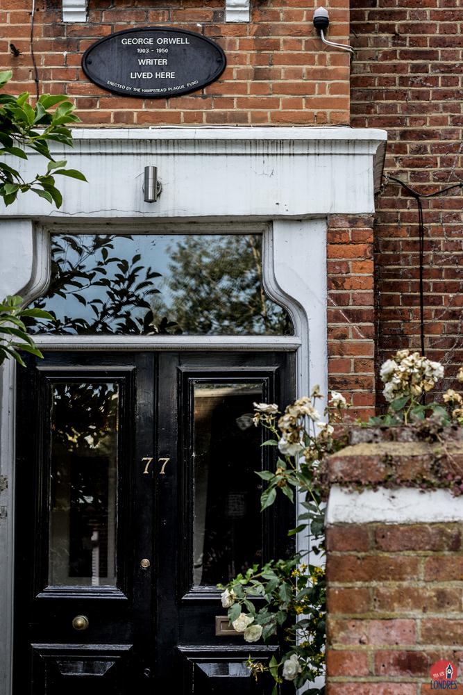 casa de george orwell em londres - hampstead