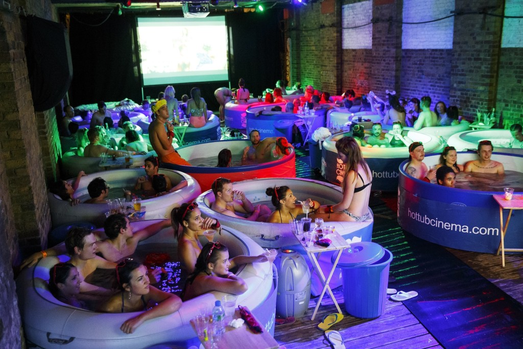 Hot Tub Cinema - 20 August 2014 / London. Picture credit: Tolga Akmen